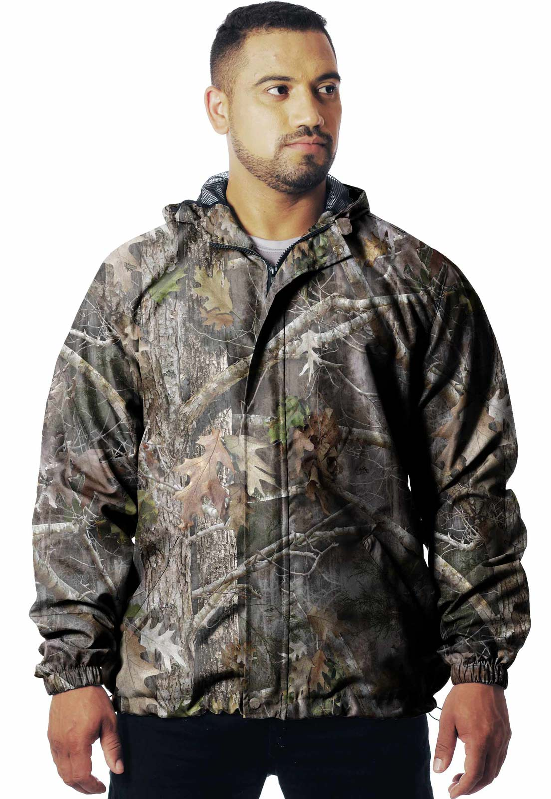 JAQUETA CORTA VENTO CAMUFLADA REALTREE  MASCULINA  - REAL HUNTER OUTDOORS