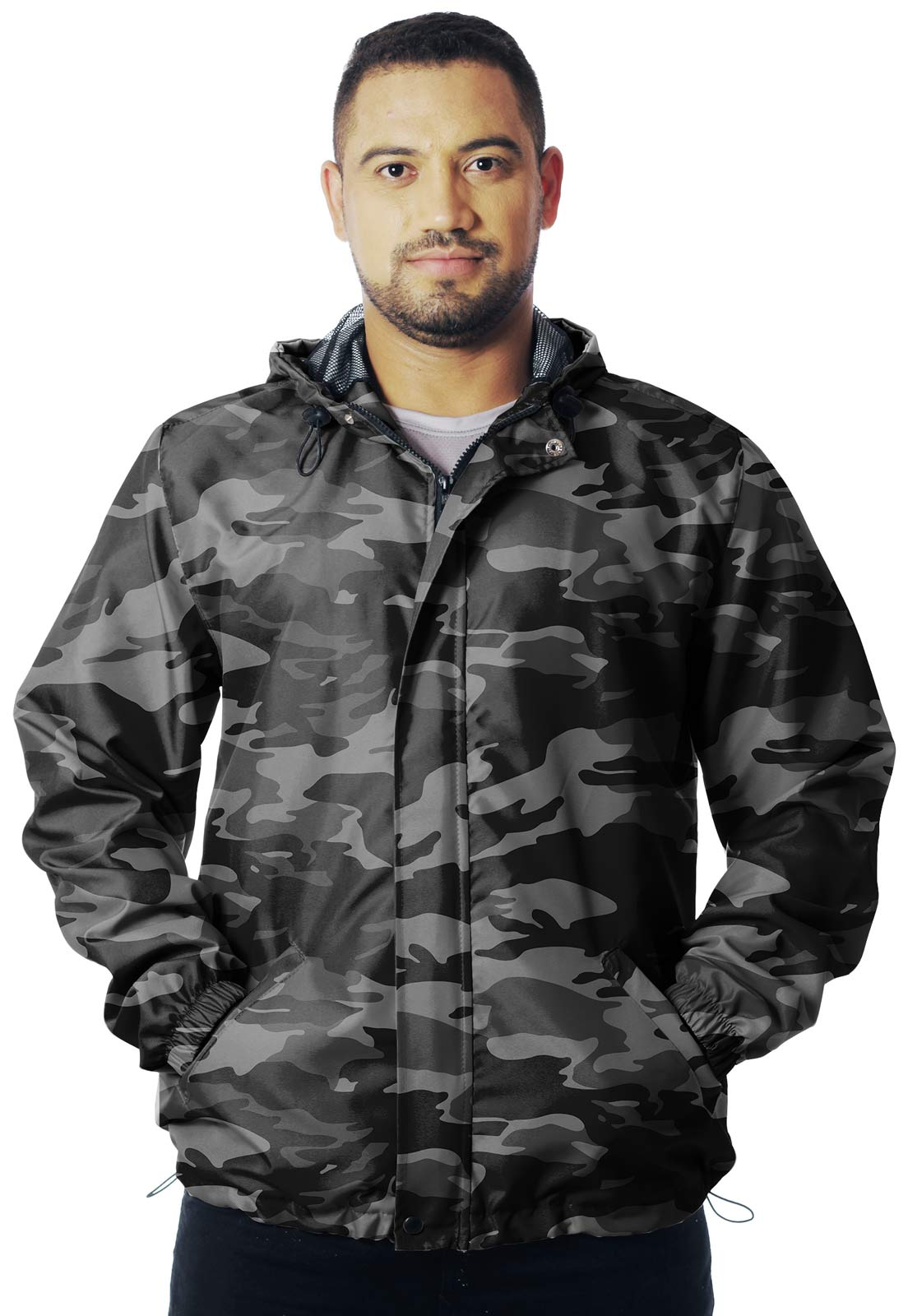 JAQUETA CORTA VENTO CAMUFLADA URBANO BLACK MASCULINA  - REAL HUNTER OUTDOORS