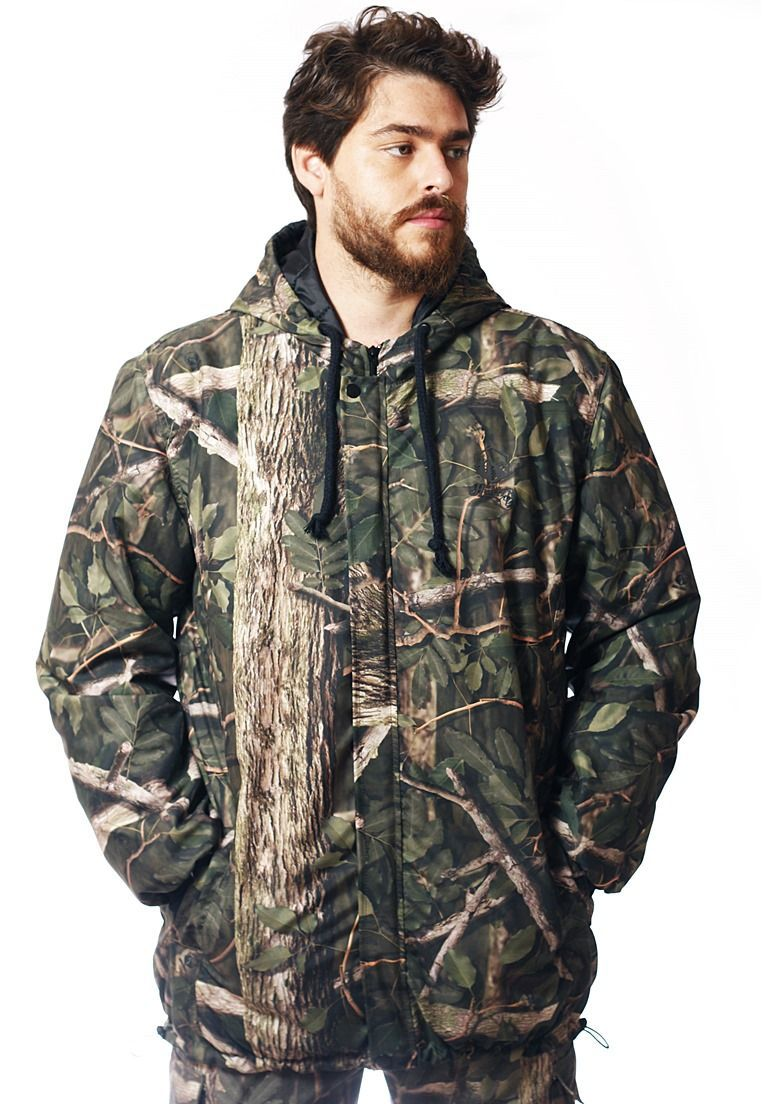 JAQUETA CAMUFLADA AMAZÔNIA FLÚOR CARBON MASCULINA  - REAL HUNTER OUTDOORS