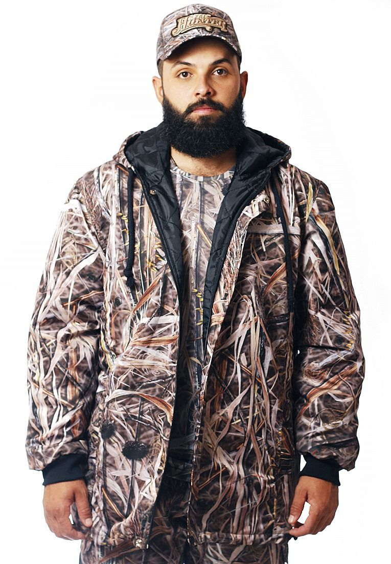 JAQUETA CAMUFLADA PALHADA FLÚOR CARBON MASCULINA  - REAL HUNTER OUTDOORS