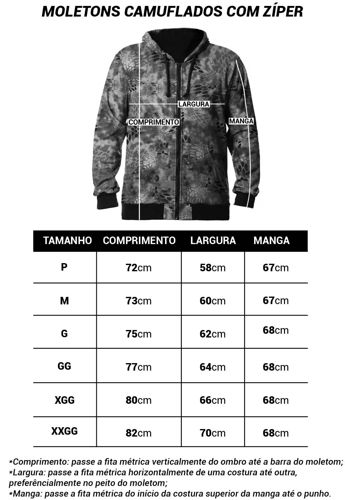 MOLETOM CAMUFLADO EXÉRCITO BRASILEIRO MASCULINO ABERTO  - Real Hunter