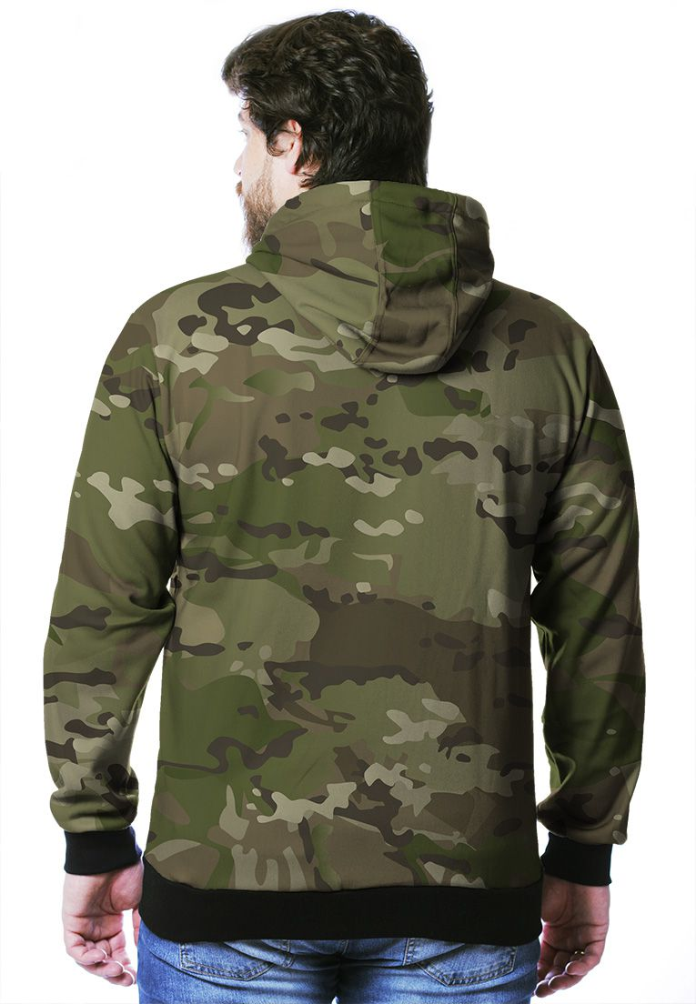 MOLETOM CAMUFLADO MULTICAM MASCULINO ABERTO  - REAL HUNTER OUTDOORS