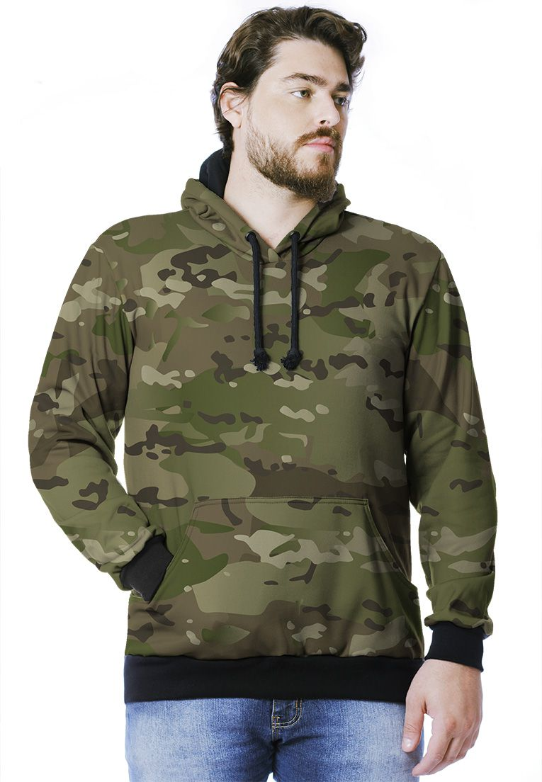 MOLETOM CAMUFLADO MULTICAM MASCULINO FECHADO  - REAL HUNTER OUTDOORS