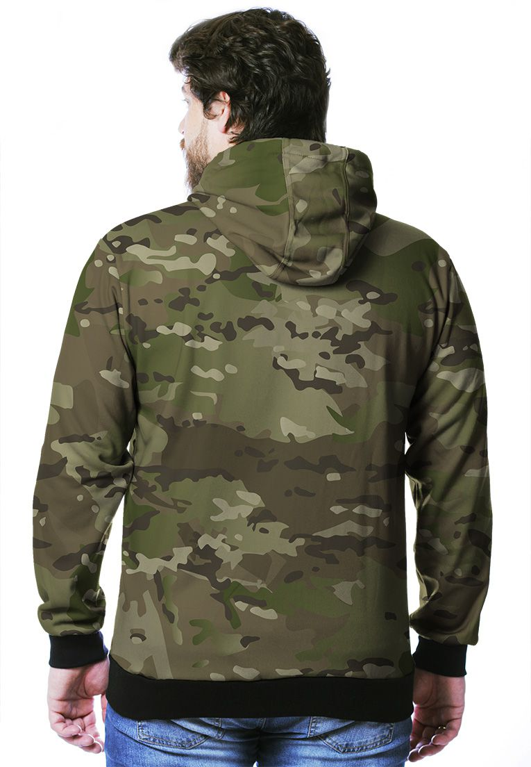 Moletom Camuflado Multicam Masculino Fechado  - REAL HUNTER