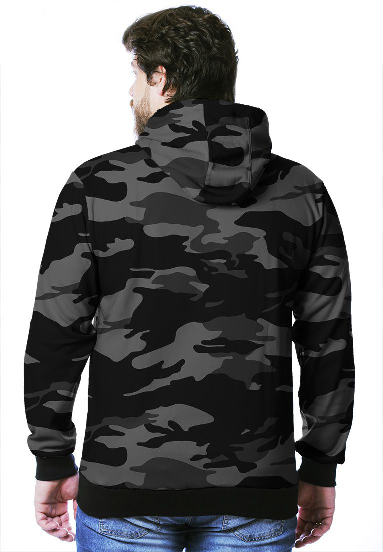 Moletom Camuflado Urbano Black Masculino Fechado  - REAL HUNTER OUTDOORS