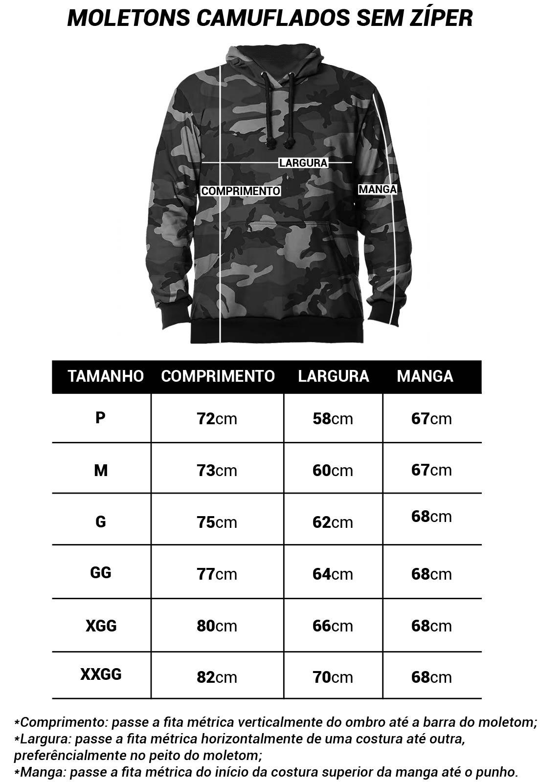 MOLETOM CAMUFLADO URBANO BLACK MASCULINO FECHADO  - REAL HUNTER OUTDOORS