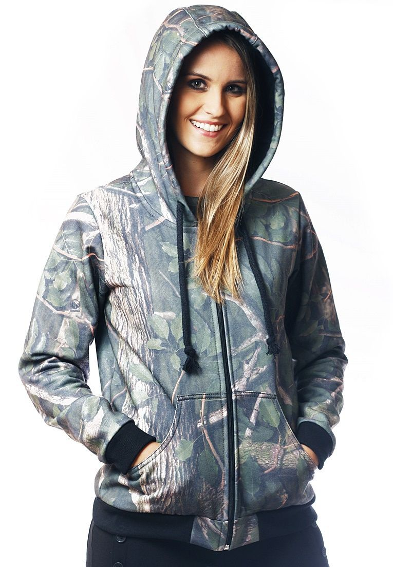 MOLETOM CAMUFLADO AMAZÔNIA FEMININO​ ABERTO - REAL HUNTER OUTDOORS