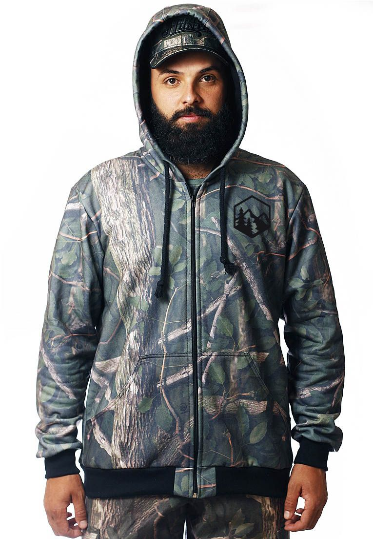 MOLETOM CAMUFLADO AMAZÔNIA MASCULINO ABERTO - REAL HUNTER OUTDOORS