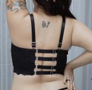 Sutiã com regulagem nas costas preto