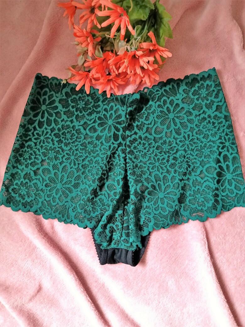 Caleçon de renda verde esmeralda