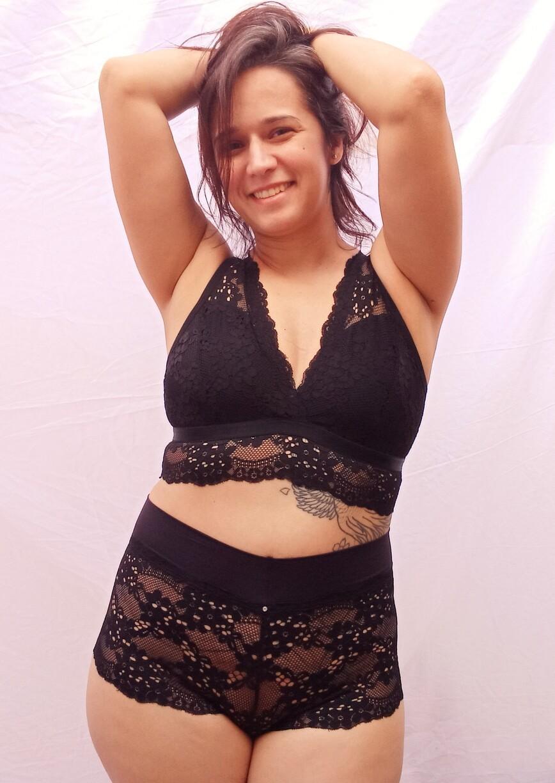 Caleçon Rebeca preto (PRONTA ENTREGA)