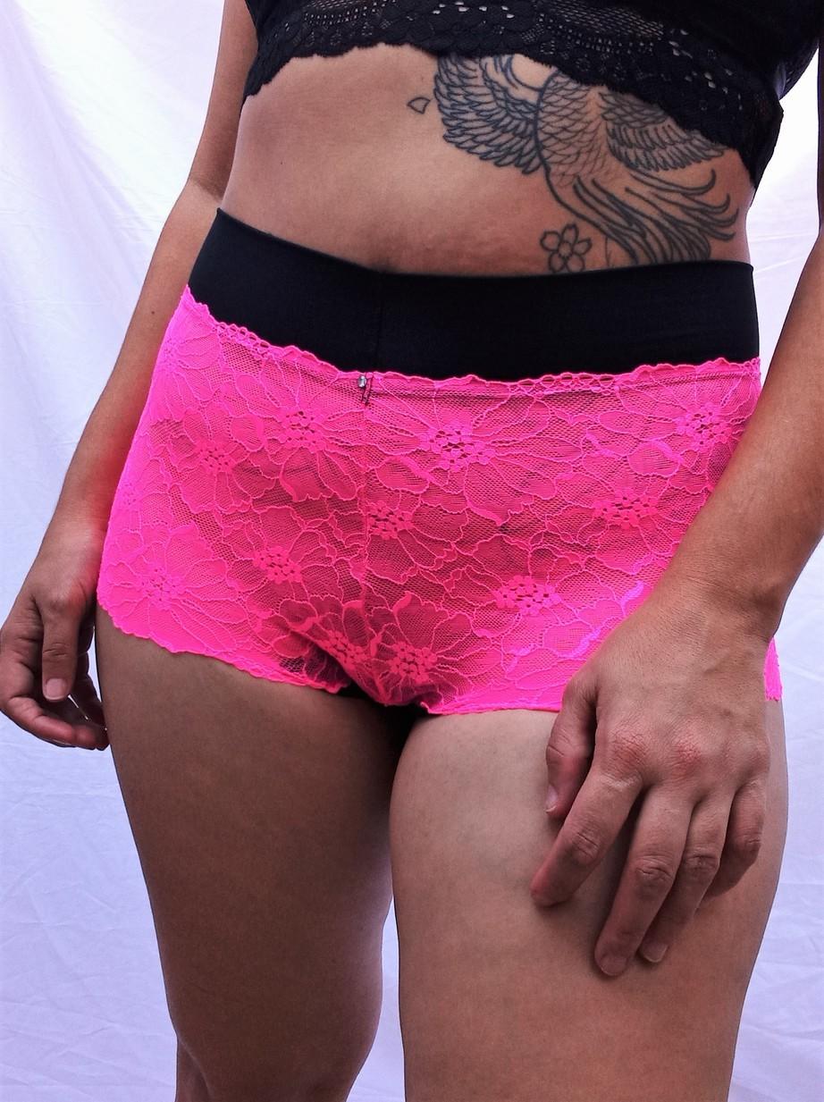 Caleçon Rebeca rosa néon