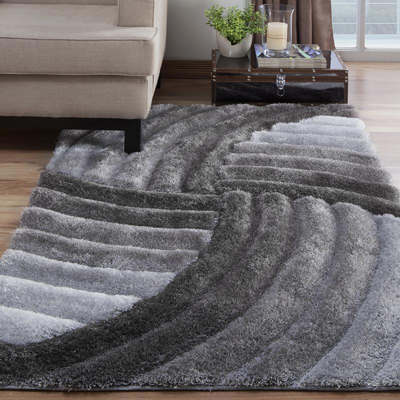 tapete cinza para sala 3d 200 x 250 cm star pelo alto. Black Bedroom Furniture Sets. Home Design Ideas
