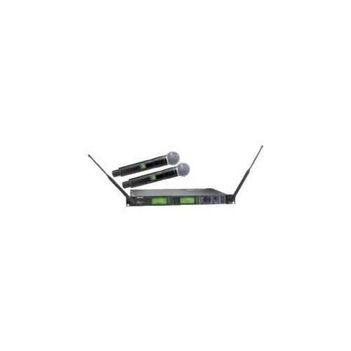 SISTEMA SEM FIO DUPLO SHURE UHF-R UR4D+  - COM 2 TRANSMISSOR DE MÃO - UR2/Beta58
