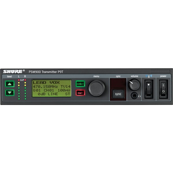 TRANSMISSOR WIRELESS SHURE PARA MONITOR DE OUVIDO IN EAR  PSM900 - P9T
