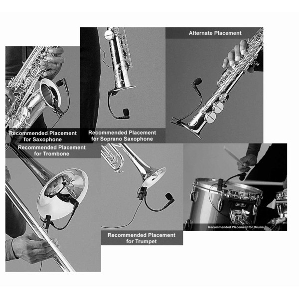 Microfone Shure Para Instrumentos Sistema Sem Fio - Wb98h/c