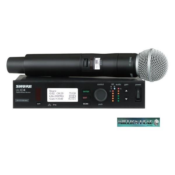 Sistema Sem Fio Bastão Shure Transmissor e Receptor - ULXD24/SM58