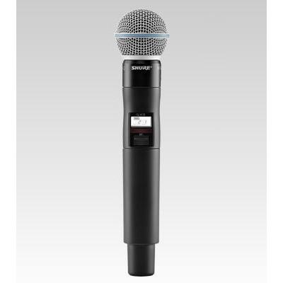 Microfone Sem fio para sistema QLXD Shure - QLXD2/Beta58a