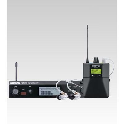 Sistema de monitoramento In-EAR sem fio SHURE PSM300 com Fone SE215 - P3TBRRA215CL-K12