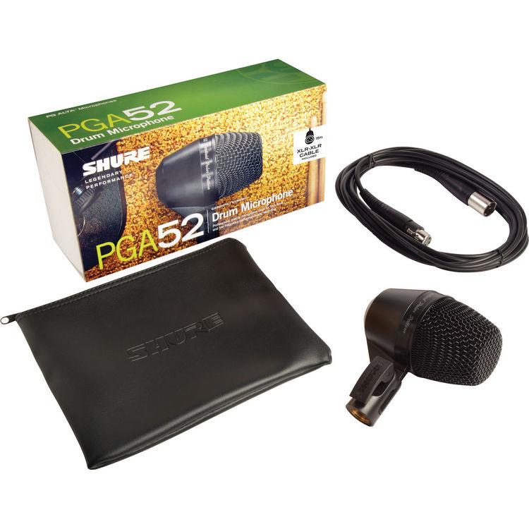 Microfone Shure Instrumentos Bateria e Amplificador de Baixo - PGA52
