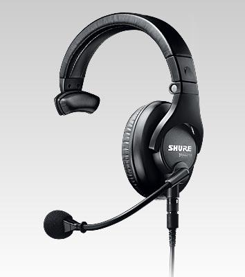 Fone com Microfone para BROADCAST Shure Single - BRH441M