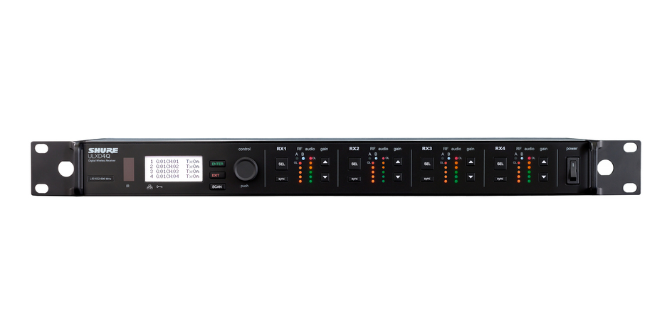 Receptor Shure Digital Com 4 Canais Sistema Ulxd - ULXD4Q