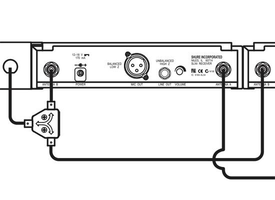 Antenas Passiva Splitter/combiner Shure Ua221