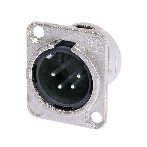 Conector Macho Neutrik Xlr Painel 4 Pinos - NC4MD-L-1