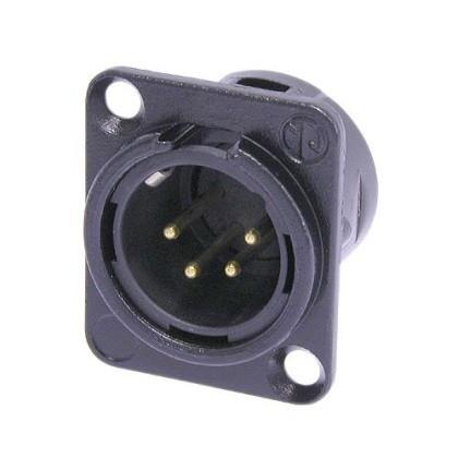Conector Macho Neutrik Xlr Painel 4 Pinos - NC4MD-L-B-1