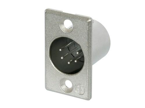 Conector Neutrik XLR MACHO de Painel 5 Pinos - NC5MP