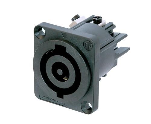 Conector Neutrik Powercon Macho De Painel - Nac3mp-hc