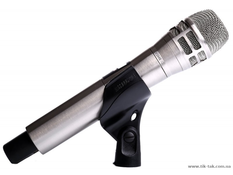 Transmissor de mão Bastão Shure Niquel Escovado com cápsula K8N - ULXD2-K8N