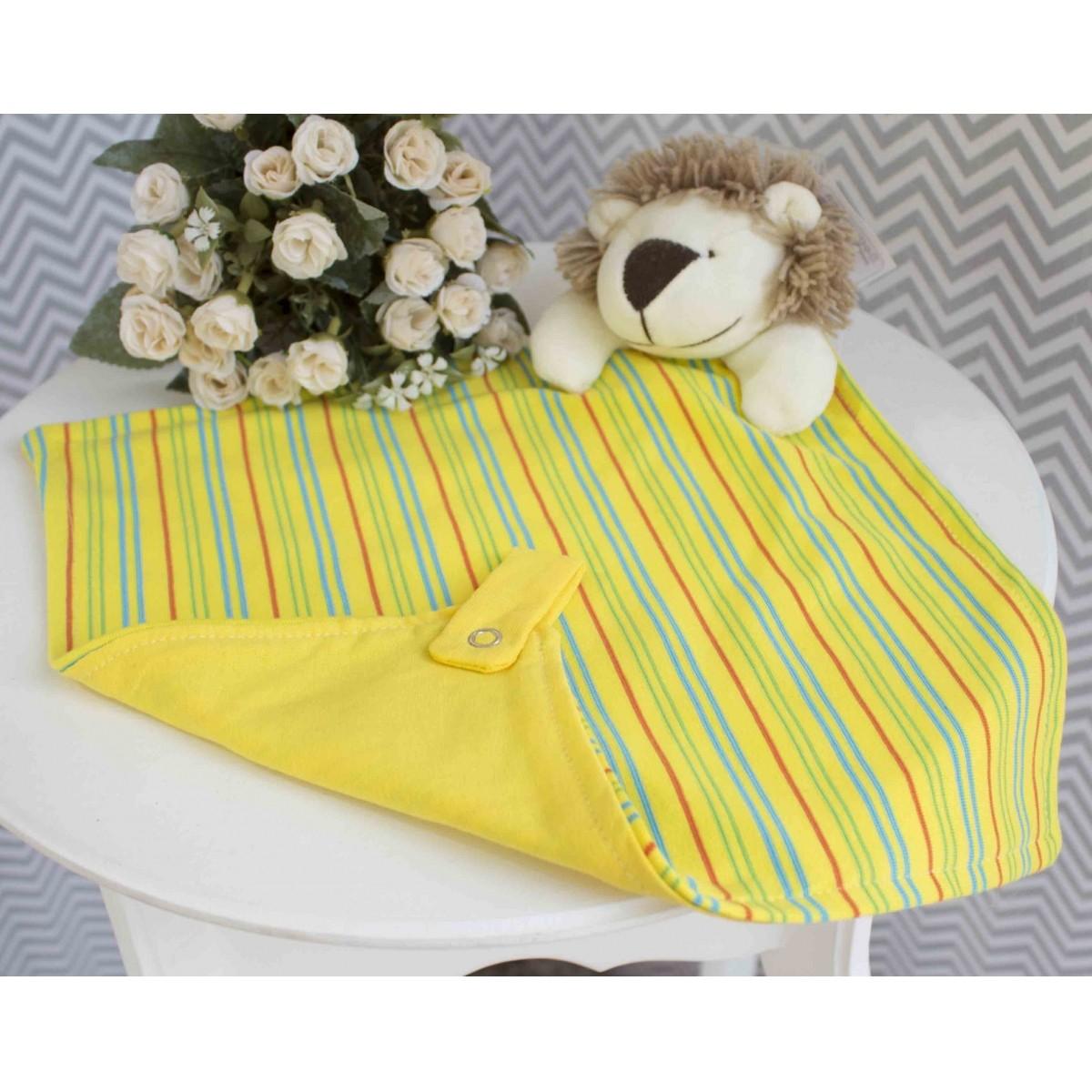 Naninha com Porta Chupeta Leão Amarelo