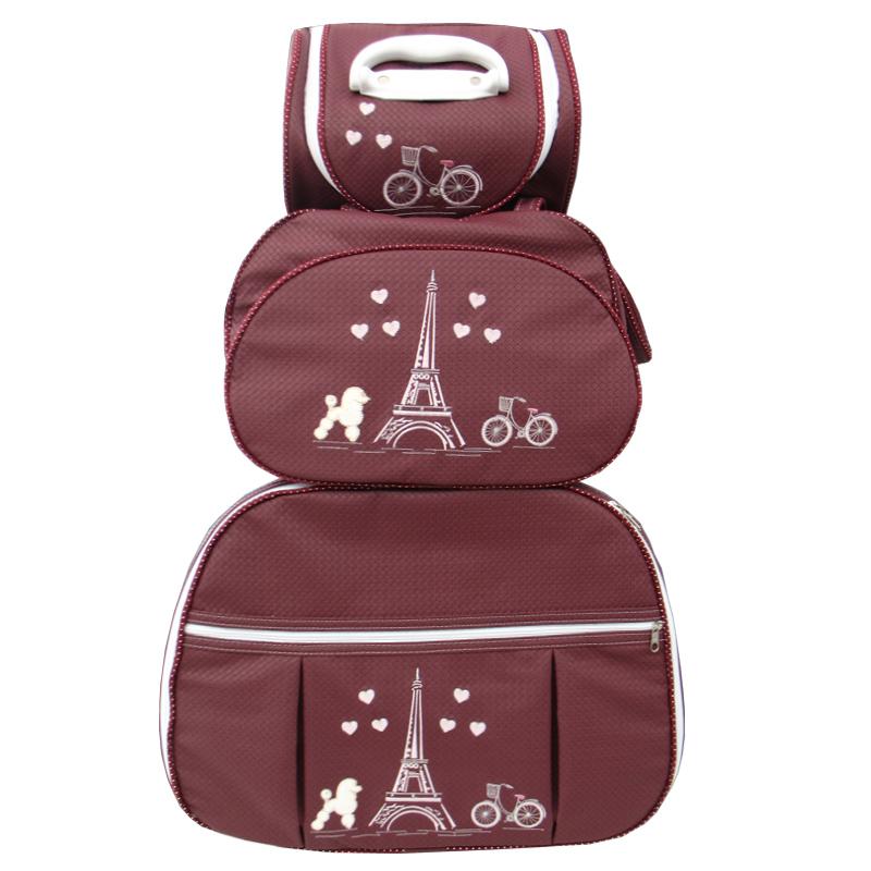 Kit de Bolsa Maternidade Paris Marsala 3 peças + Brinde