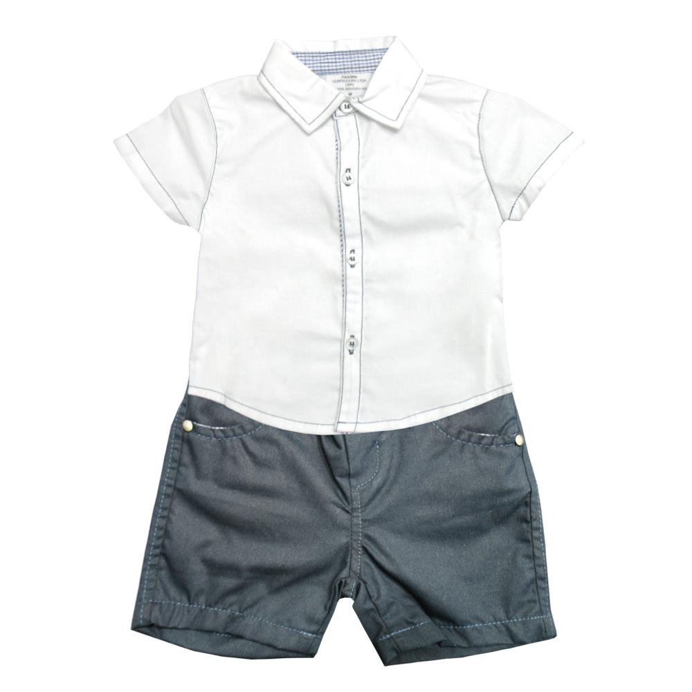 Conjunto Ópera Kids Tricoline  com Camisa - 2 peças