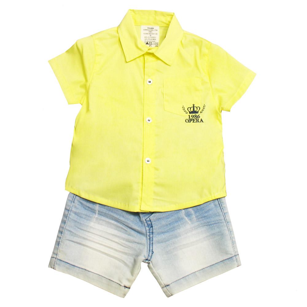 Conjunto Ópera Kids com Camisa - 2 peças