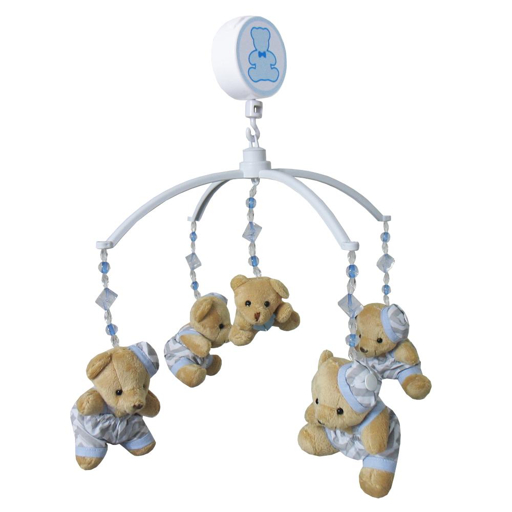 Móbile Urso Chevron Azul