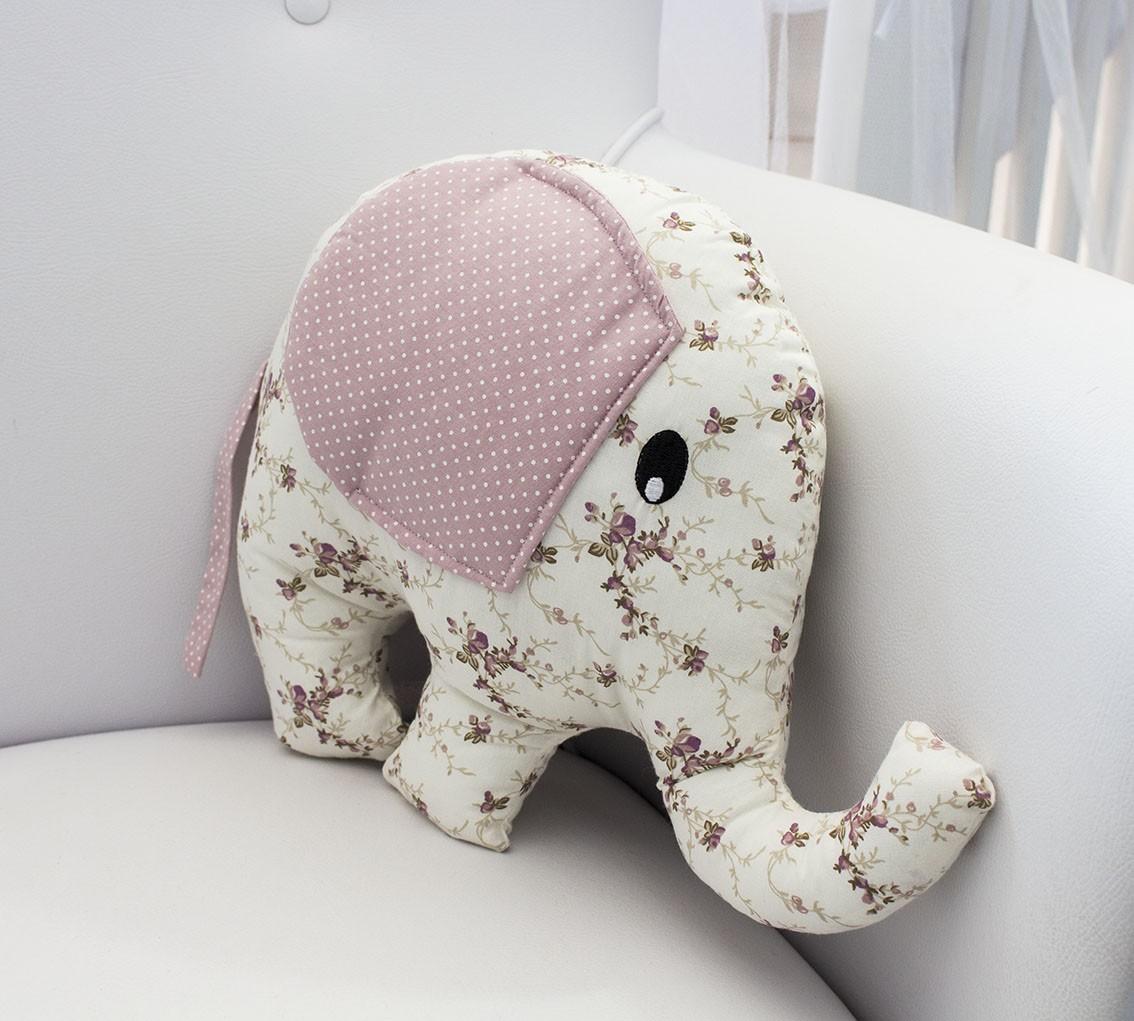 Enfeite Elefante - Floral Ferrugem