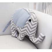 Almofada Elefante - Chevron Azul