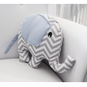 Almofada Elephant - Chevron Azul