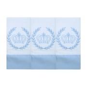 Babete Bordada 03 Pçs - Realeza Azul