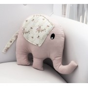 Almofada Decorativa Elefante - Floral Rosa