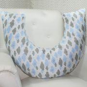 Almofada de Amamentação - Chuva de Benção Azul