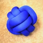 Almofada de Nó Malha - Azul Royal
