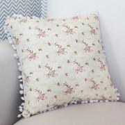 Almofada Decorativa Estampada - Floral Rosa