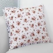 Almofada Decorativa Estampada Floral Salmão
