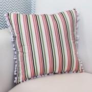 Almofada Decorativa Estampada Listrado Pink