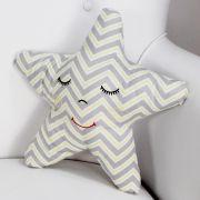 Almofada Decorativa Estrela - Chevron Amarelo