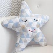 Almofada Estrela Losango Azul
