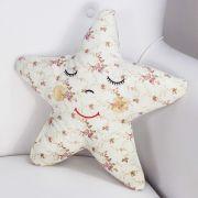 Almofada Estrela - Floral Ferrugem